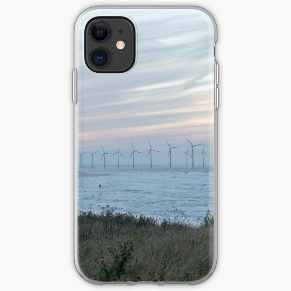 Redcar, wind turbines iPhone Soft Case