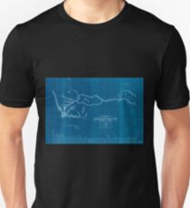 0333 Railroad Maps Preliminary sketch of the Northern Pacific Rail Road exploration and survey by I I Stevens Governor of Washington Inverted Unisex T-Shirt