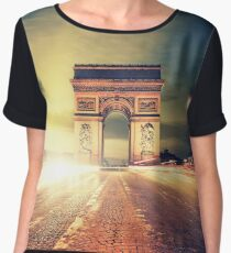 paris skyline Chiffon Top