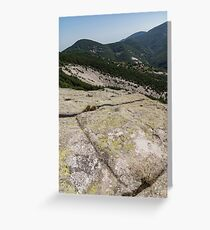 Rock Power from the Past - Ancient Thracian Ceremonial Site Belintash Greeting Card