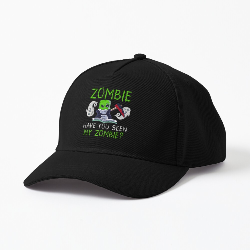 Halloween Zombie Have You Seen My Zombie Funny Death Scythe Cap