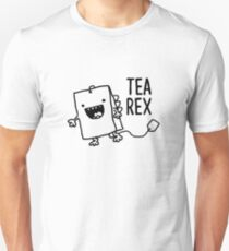 Tea Rex Tea Bag Funny Pun Cartoon T-Shirt