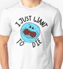 Mr Meeseeks; I Just Want to Die Slim Fit T-Shirt