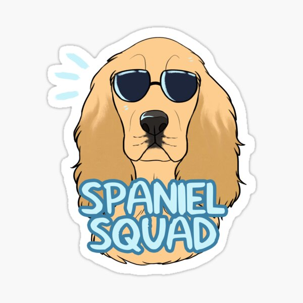 SPANIEL SQUAD (gold) Sticker