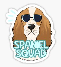SPANIEL SQUAD (red and white) Sticker