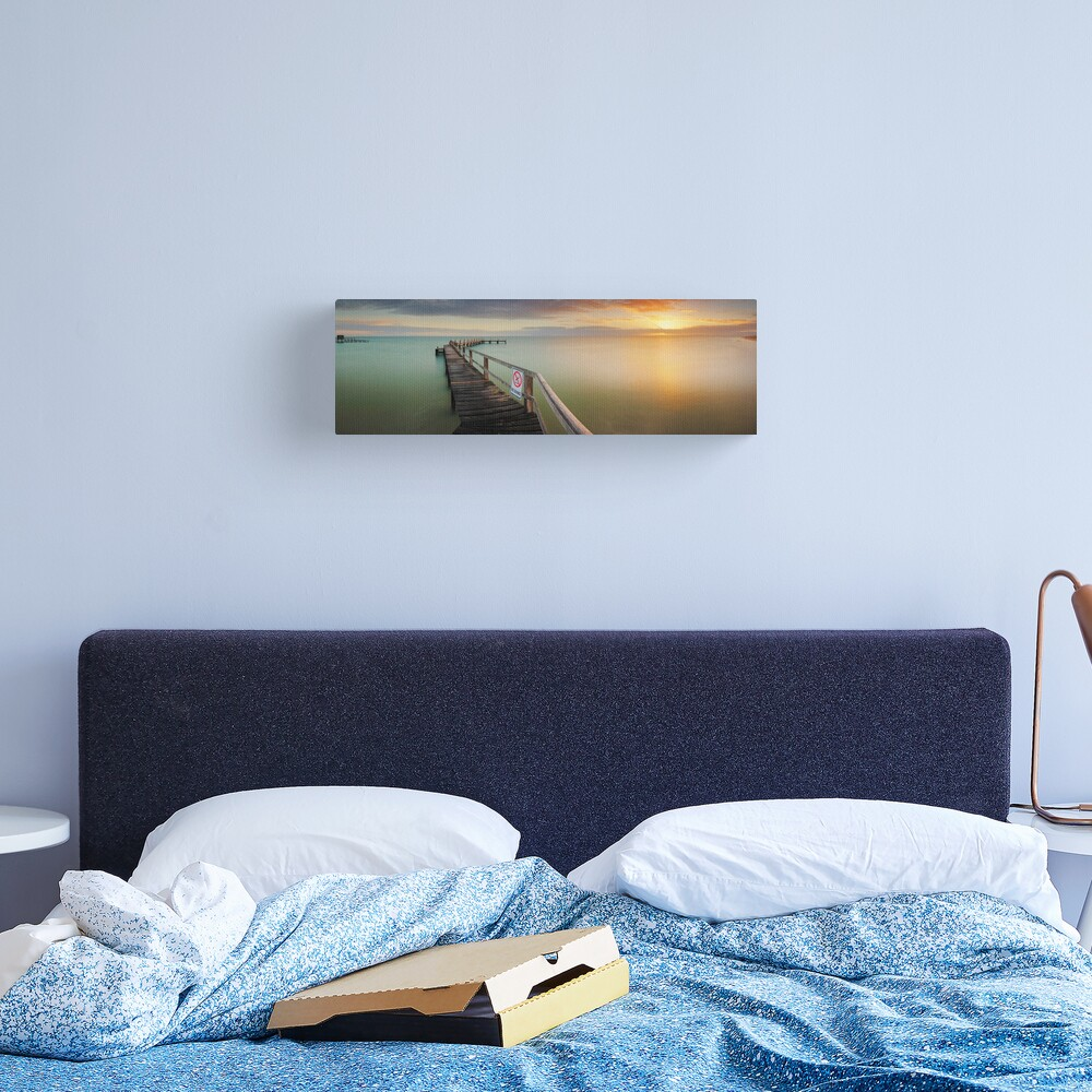 No Diving, Mornington Peninsula, Victoria, Australia Canvas Print