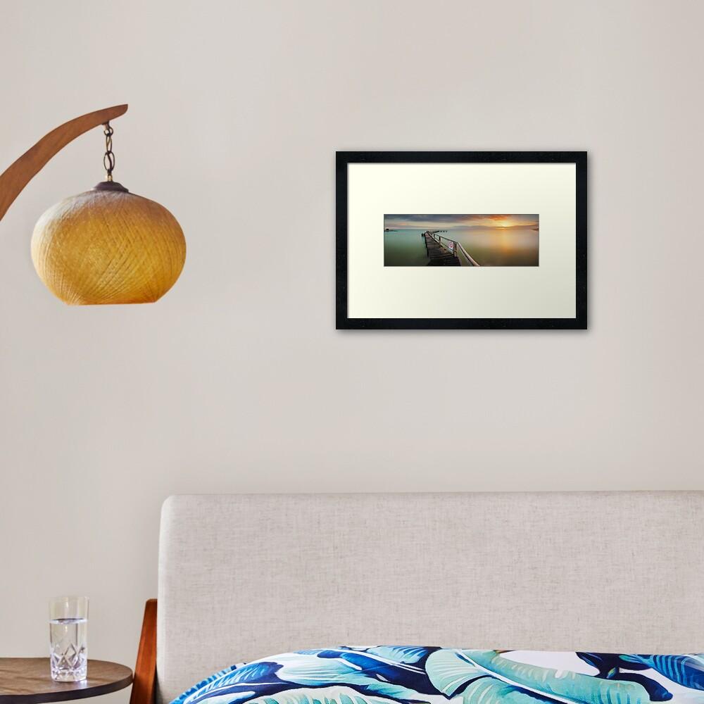 No Diving, Mornington Peninsula, Victoria, Australia Framed Art Print