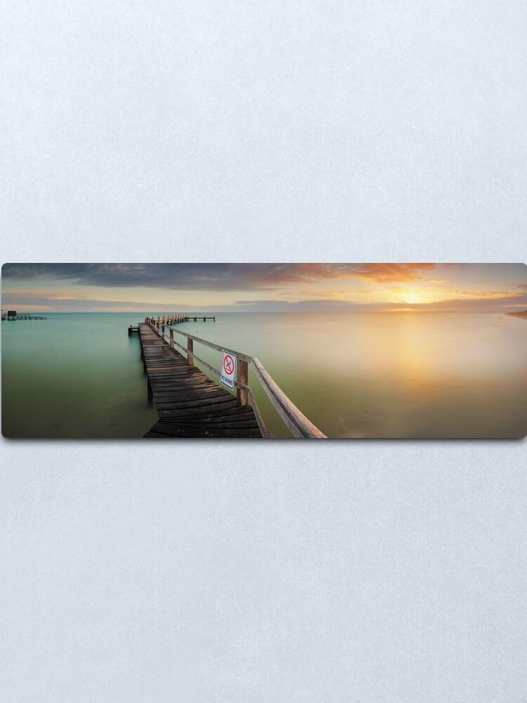 Alternate view of No Diving, Mornington Peninsula, Victoria, Australia Metal Print