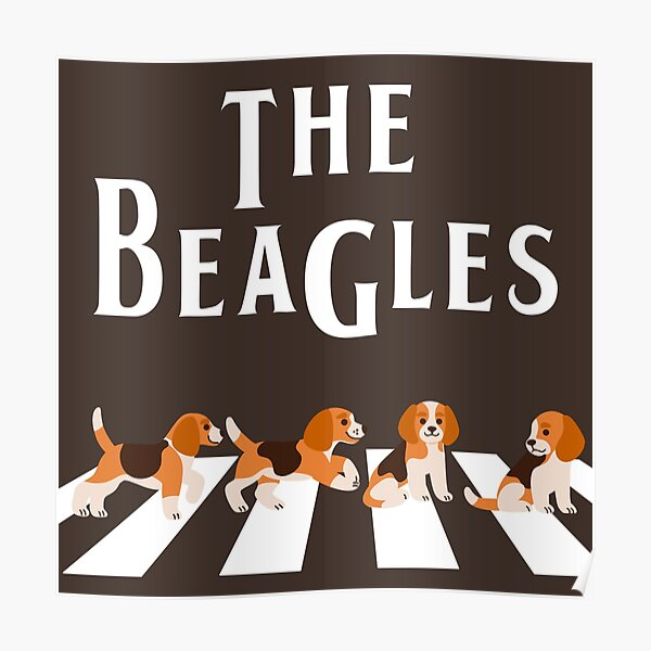 The Beagles Abbey Road Poster