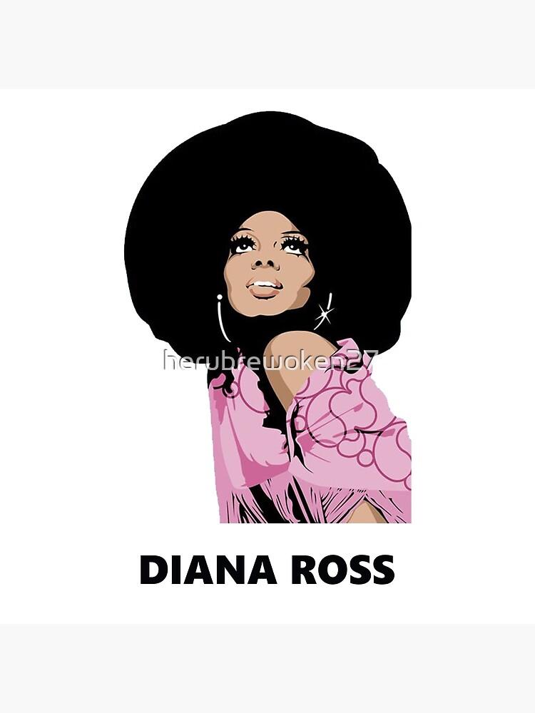 Diana Ross Afro Malerei Kunst heru von herubrewoken27