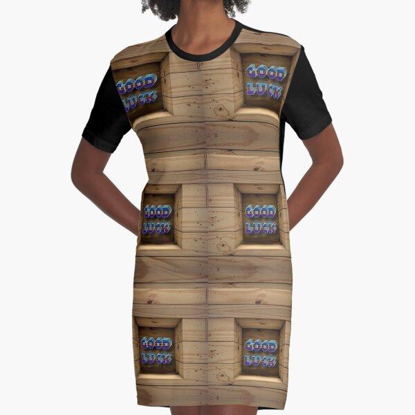 Good Luck  Graphic T-Shirt Dress