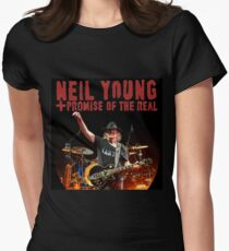 promise of the real concert tour neil young Women's Fitted T-Shirt