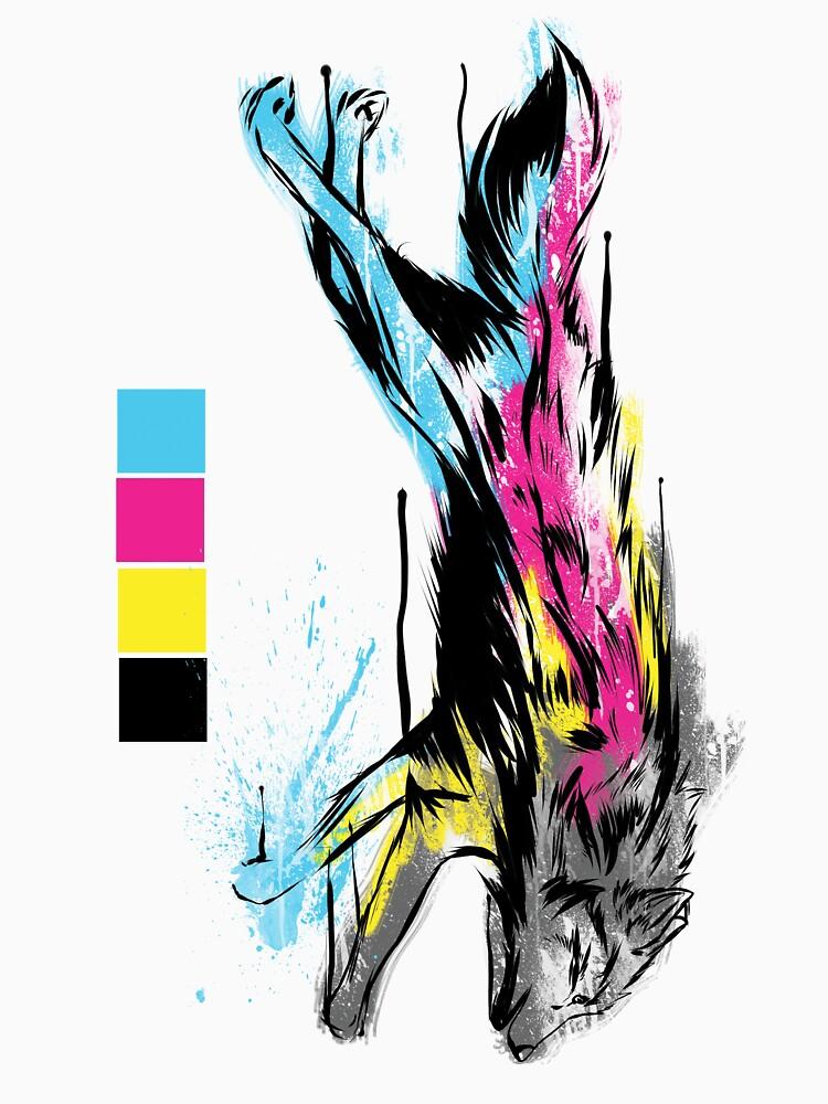 CMYK Wolf by EdgeDestroys