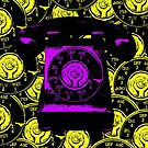 Vintage Purple Phone by Nathan Little