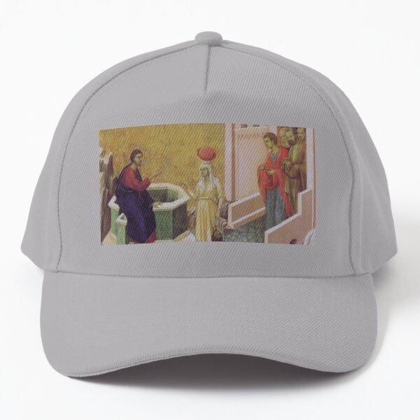 Christ and the Samaritan woman Baseball Cap