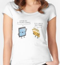¿Otra vez el mismo cuento? Women's Fitted Scoop T-Shirt