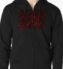 On a Bed of Roses Zipped Hoodie