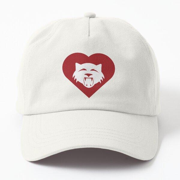 Wildcat Mascot Cares Red Dad Hat