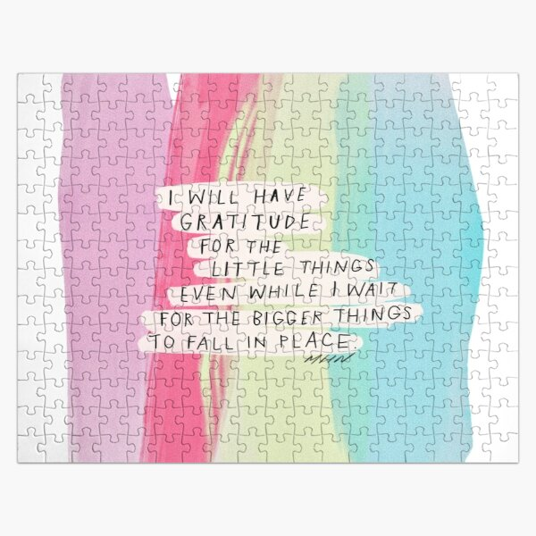 I will have gratitude for the little things - pastel watercolor Jigsaw Puzzle