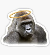 Harambe Angel Sticker