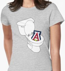 UofA Toilet - Gold Womens Fitted T-Shirt