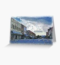 Street Banner in Historic Downtown Franklin, NC Greeting Card