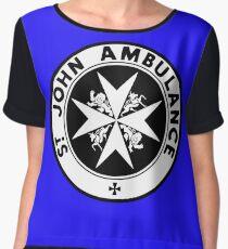 TARDIS St. John's Ambulance Logo (available as leggings!) Women's Chiffon Top