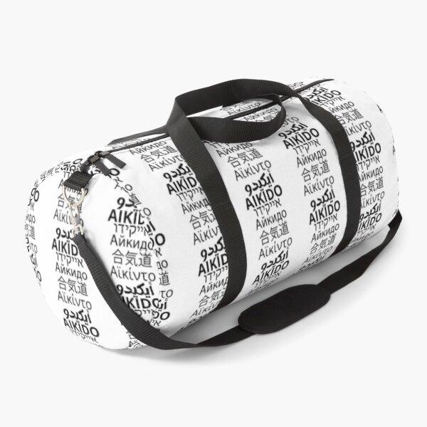 Aikido translated into six languages Duffle Bag