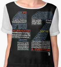 Hitchhiker's Guide 42 Quotes Chiffon Top