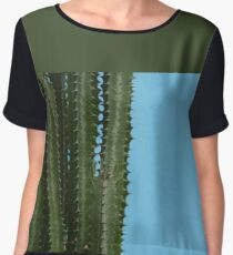 Spike blue Women's Chiffon Top