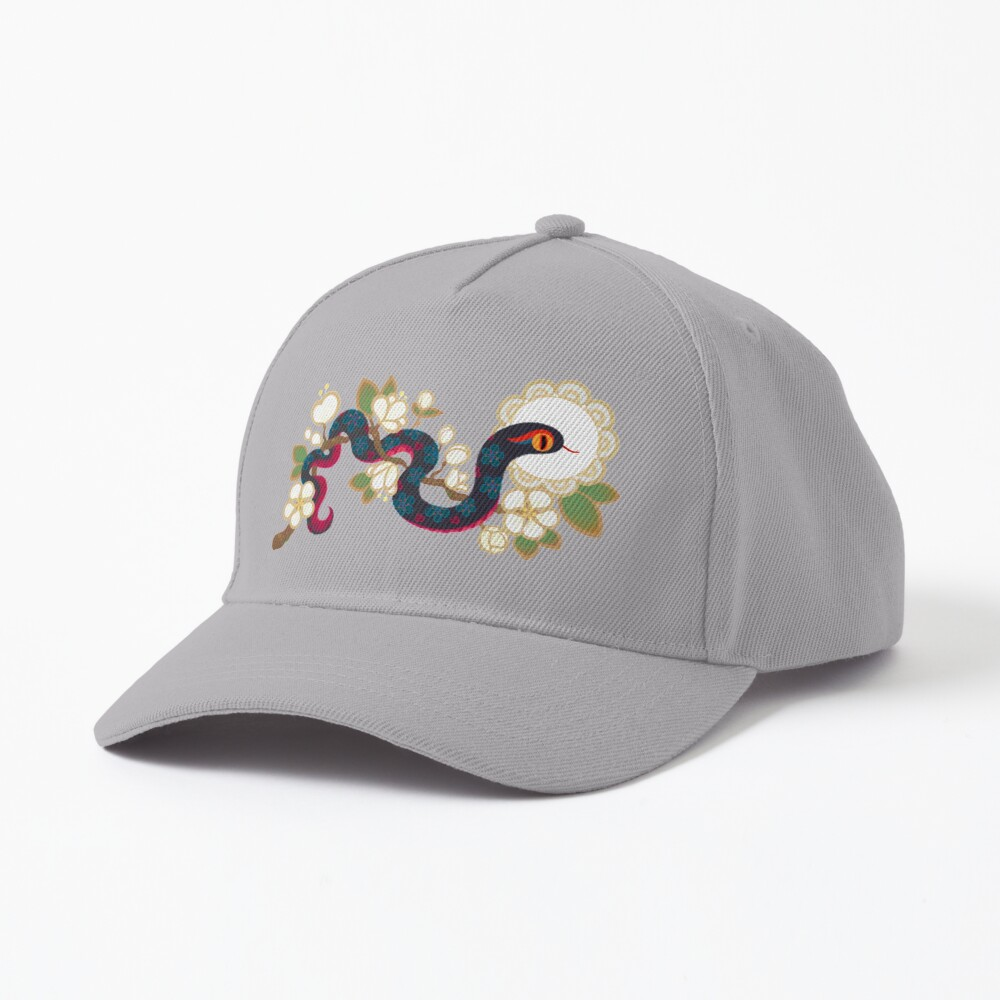 Snake and flowers 2 Cap