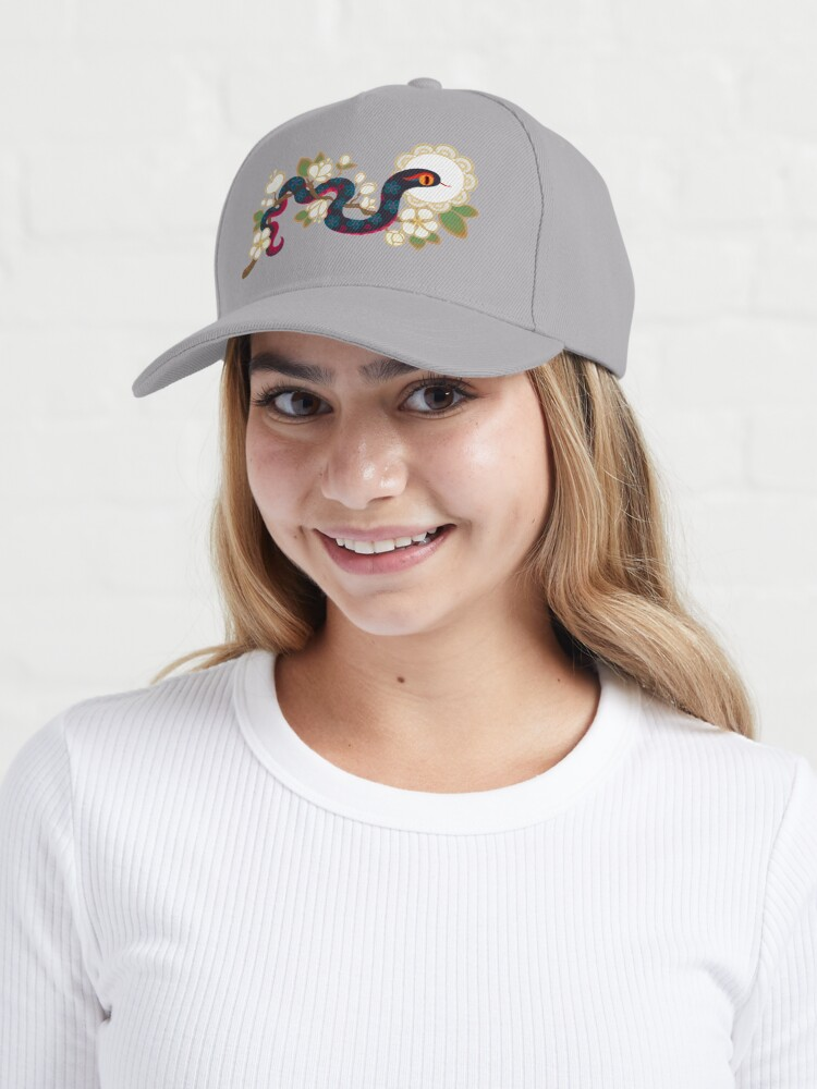 Alternate view of Snake and flowers 2 Cap