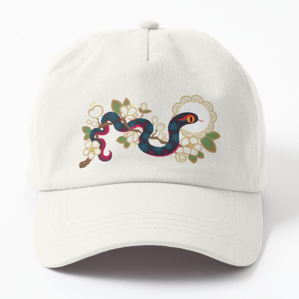 Snake and flowers 2 Dad Hat