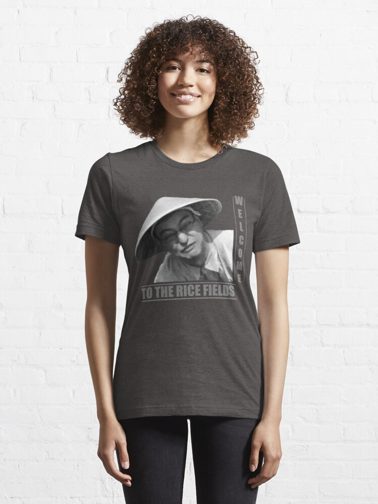 Alternate view of WELCOME TO THE RICE FIELDS - Clean version Essential T-Shirt