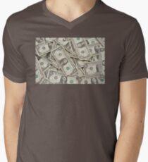 American One Dollar Bills Men's V-Neck T-Shirt