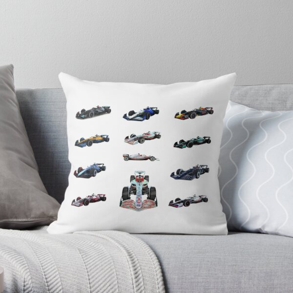 F1 All cars 2022 Throw Pillow