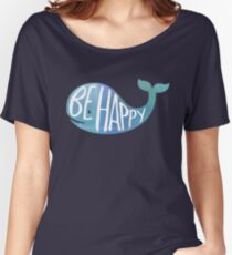 Happy Whale Women's Relaxed Fit T-Shirt