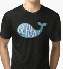 Happy Whale Tri-blend T-Shirt