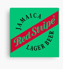 Jamaica Red Stripe Lager Beer Canvas Print