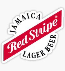 Jamaica Red Stripe Lager Beer Sticker