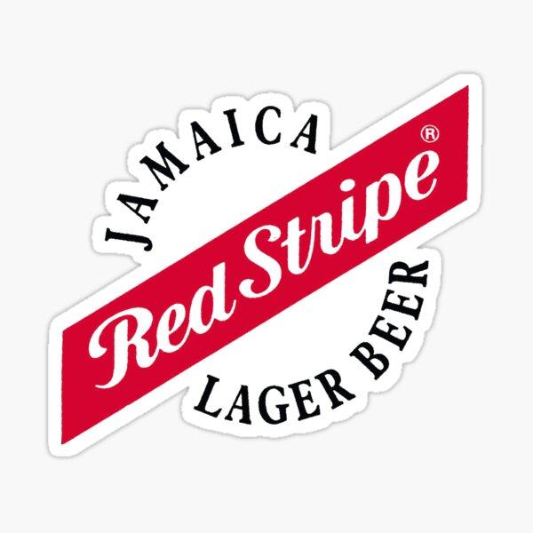 Cerveza Lager de Jamaica Red Stripe Pegatina
