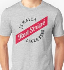 49992468f3 Jamaica Red Stripe Lager Beer Slim Fit T-Shirt