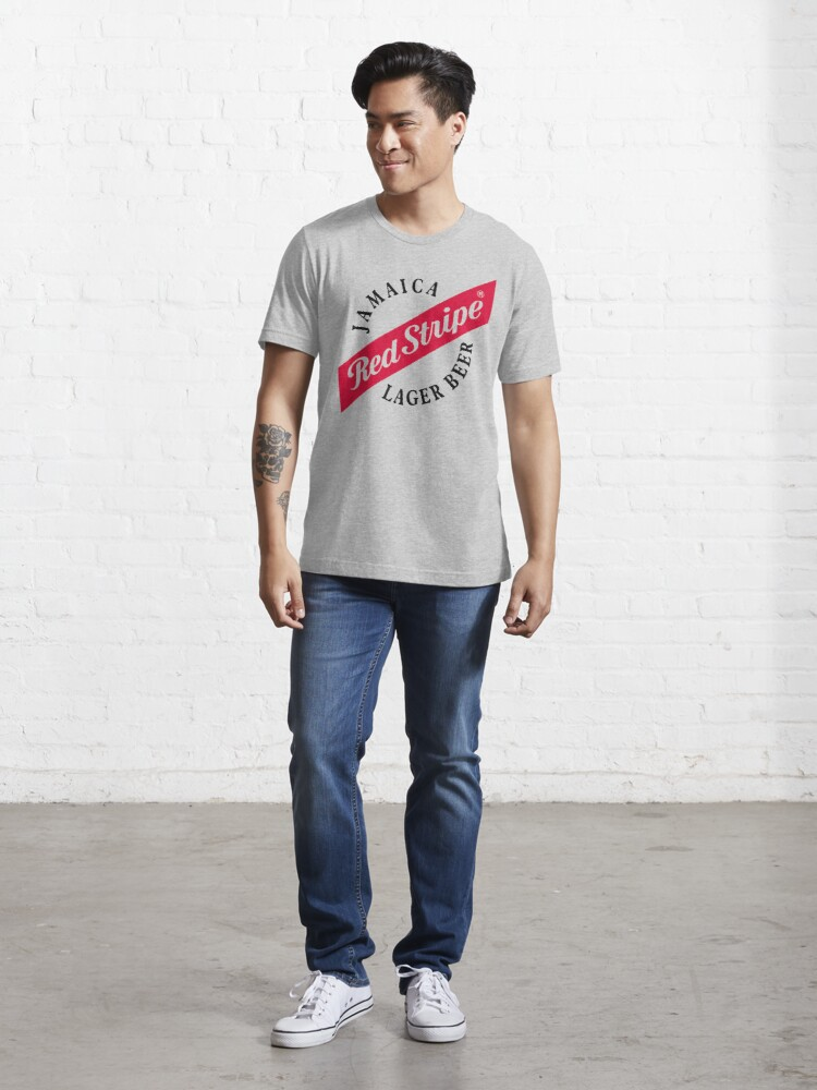 Alternate view of Jamaica Red Stripe Lager Beer Essential T-Shirt