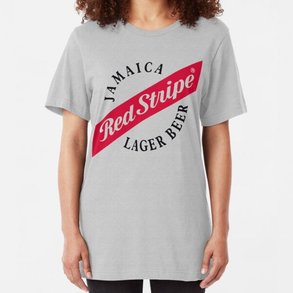Jamaica Red Stripe Lager Beer Slim Fit T-Shirt