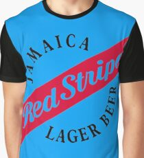 Jamaica Red Stripe Lager Beer Graphic T-Shirt
