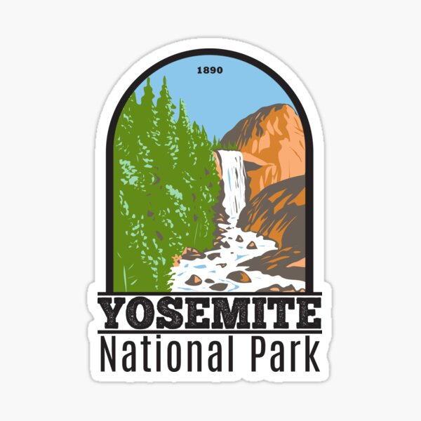 Yosemite National Park Vernal Fall California Sticker