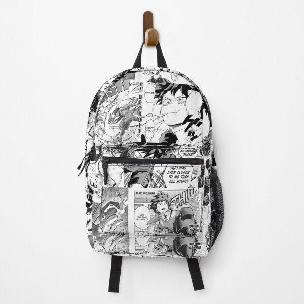 My Hero Academia Deku Manga Collage Black and White Backpack