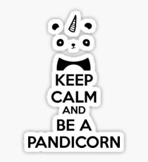 Keep Calm And Be A PandiCorn Sticker
