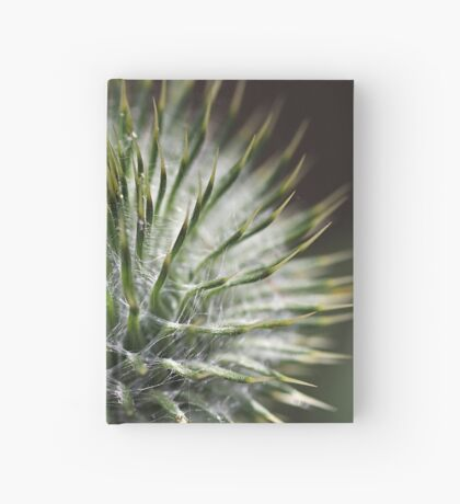 Round Green Thistle Bud Hardcover Journal