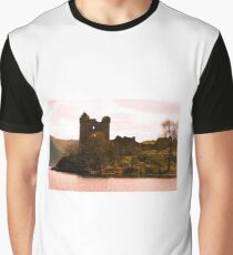 Urquhart Castle on Loch Ness Scotland Graphic T-Shirt